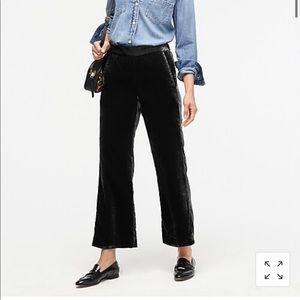 J Crew black velvet pants
